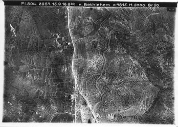 Fotografie n. Bethlehem Hebronstr. [Hebron] Nr.3 Anschluss an 1 [GDIp00371] unmittelbar nördl. v. Bethlehem