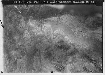 Fotografie w. Bethlehem Hebronweg Nr. 4a westl. davon l. oben nördl. Weg v. Bethlehem n. betqaln [betgaln]