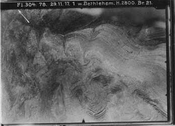 Fotografie w. Bethlehem Kann links unten schärfer sein? Pfeil falsch Hebronweg 4a für Karte v. 2.11.24