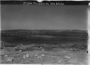 Fotografie Flugplatz 302 Afule. Gegend v. Nazareth
