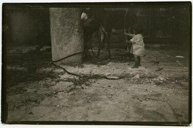 Fotografie Akka [Akko, Kinder]. Früh übt sich wer …
