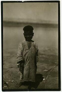 Fotografie Beduinenjunge am toten Meer [Kinder]