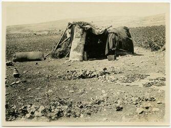 Fotografie Wächterhütte, aus Kura-Feld [Hütte, el-baka, bei Jerusalem]