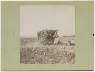 Fotografie Wächterhütte im Melonenfeld bei helun bei Aleppo [Hütte]