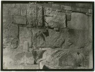 Fotografie saddad ibn aus beim goldenen Tor [Jerusalem]