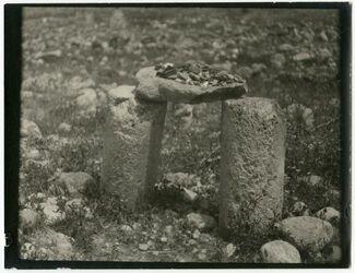 Fotografie Eingang zum weli rara bei tell nimrim [Steinkreis]