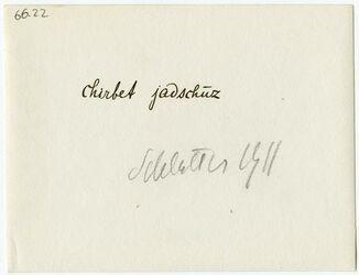 GDIp02705; Fotografie; [Steinkreis] chirbet jadschuz, in Bestand von rund 5.000 nach Themen und Orten sortierten Kleinbildabzügen