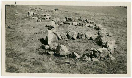 Fotografie Mos. Friedhof Hebron Grabkreise