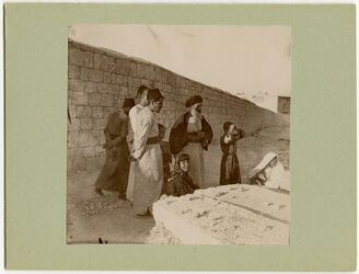 Fotografie Auf d. jüd. Friedhof Aleppo