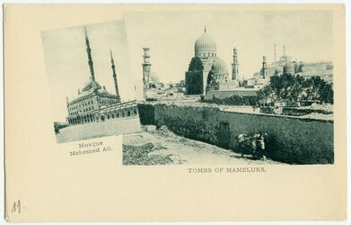 Fotografie Mosque Mehmed Ali. Tombs of Mameluks. [Kairo] [Postkarte]