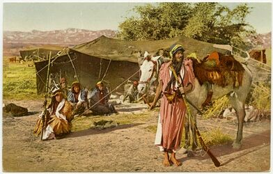 Fotografie [Beduinen] Bédouins - Wandering Bedouins [Postkarte