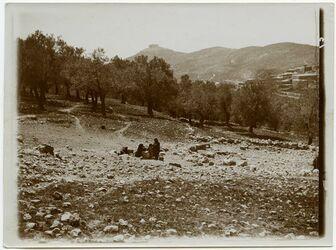 Fotografie Ain Genne mit Kalat er. Rabad
