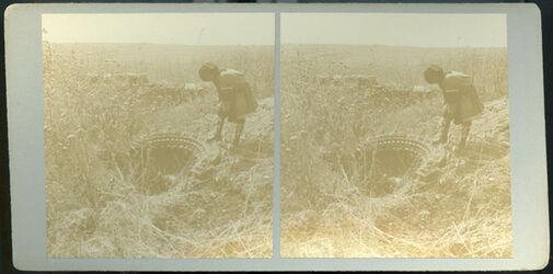 Stereofotografie Ruins of Old Synagogue, Chorazin. [Chorazin, Ruine der alten Synagoge]