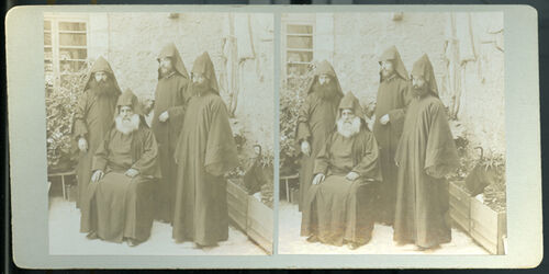 Stereofotografie Armenian Priests. [Armenische Priester]