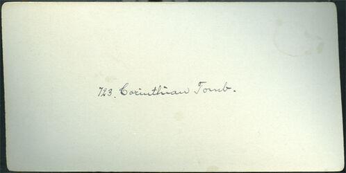 GDIs00083; Stereofotografie; Corinthian Tomb. [Korinthisches Grab, Petra], aus 153 Stereoskopbildern mit wohl dazugehörigem Stereoskop