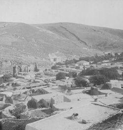 GDIs00102; Stereofotografie; General View of Amman., aus 153 Stereoskopbildern mit wohl dazugehörigem Stereoskop