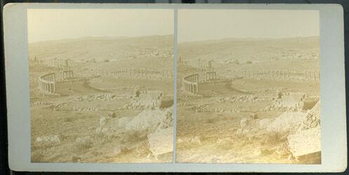 Stereofotografie The Forum at Jerash. [Gerasa, Forum]