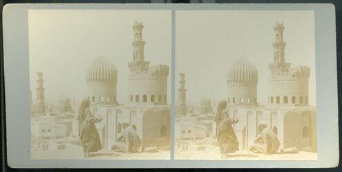 Stereofotografie Tombs of the Mamelouks. [Kairo, Mameluken-Gräber]
