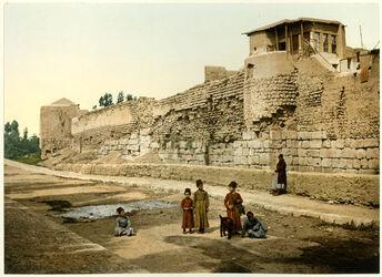 Photochrom Damas. Mur par où St-Paul s