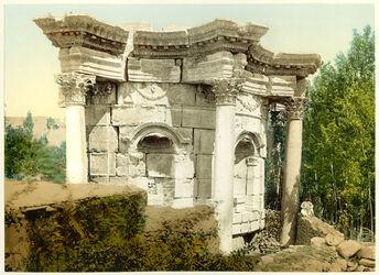 Photochrom Balbek. Temple de Venus. [Baalbek, Venus-Tempel]