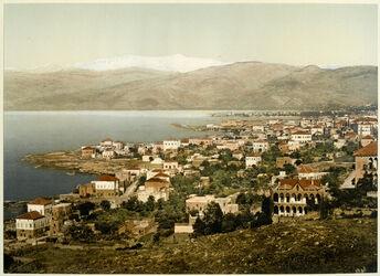 Photochrom Beyrouth et le Liban. [Beirut, Libanon-Gebirge]