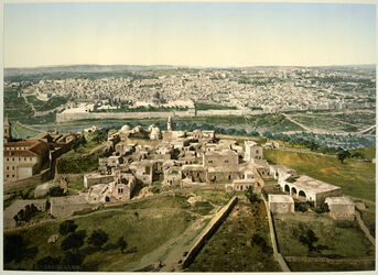 Photochrom Jérusalem. [Jerusalem, Panorama]