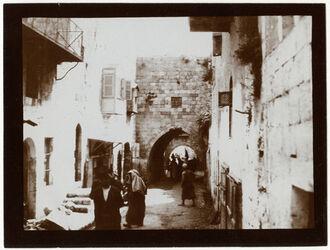 Fotografie Strasse v. Damaskustor n. d. Österr. Hospiz [Jerusalem]