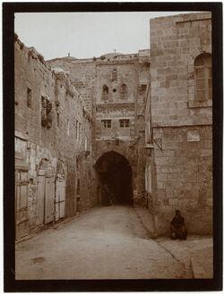 Fotografie Haus des reichen Mannes an d. Via dolorosa [Jerusalem]