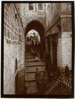Fotografie Via dolorosa oberhalb Joh.hospiz [Jerusalem]