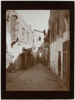 Fotografie Via dolorosa oberhalb Joh.hospiz v. W. [Jerusalem]