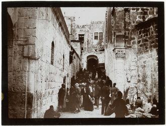 Fotografie Treppe z. Südhof d. Grabeskirche [Jerusalem]