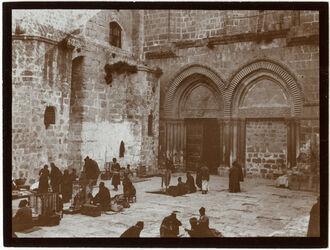 Fotografie Südeingang d. Grabeskirche [Jerusalem]