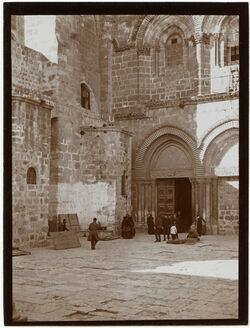 Fotografie Südeingang der Grabeskirche [Jerusalem]