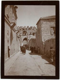Fotografie Innerhalb d. Stephanstor[s] nebi-musa [Jerusalem]