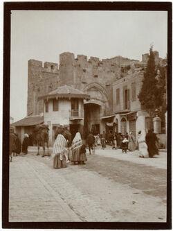 Fotografie Jaffator v. innen [Jerusalem]