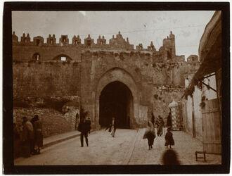 Fotografie Damaskustor v. innen [Jerusalem]