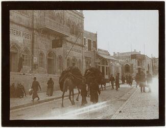Fotografie Österr. Post u. Engl. J.Mission [Jerusalem]