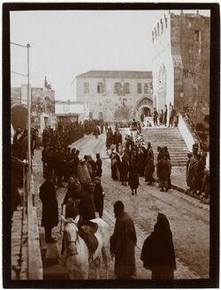 Fotografie Kaserne u. Kastelleingang am Beiram v. N [Jerusalem]