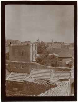 Fotografie Jaffastr. bei Krikorian [Fotografengeschäft] Blick n. S. [Jerusalem]