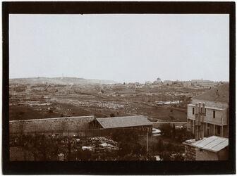 Fotografie V. Syr. Waisenhaus Blick n. SO Abessyn. Kirche Ölberg [Jerusalem]