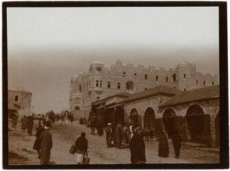 Fotografie Paulushospiz v. Damaskustor [Jerusalem]