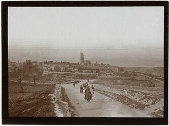 Fotografie Dormitio v. Strasse z. D. Kolonie [Jerusalem]
