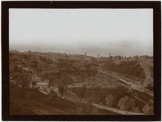 Fotografie Sultansteich u. [?] Stadt v. S. [Jerusalem]
