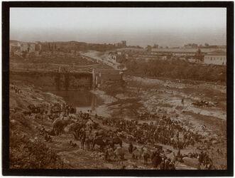 Fotografie Sultansteich mit Viehmarkt v. N [Jerusalem]