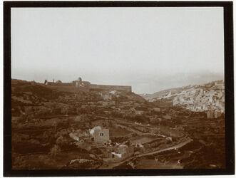 Fotografie Tempelhügel u. silwan v. Hakeldama [Jerusalem]
