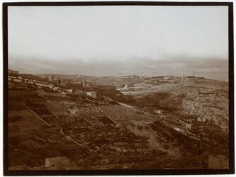 Fotografie Ölberg v. Berg d. b. Rats [Jerusalem]