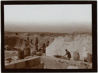 Fotografie Beim Bau der Ölbergstiftung [Jerusalem]