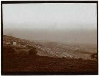 Fotografie Zw. Stiftung u. Galiläakuppe Blick n. O. [Jerusalem]