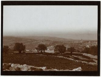 Fotografie Blick v. Ölberg auf Berg des b. Rats u. Dormitio [Jerusalem]