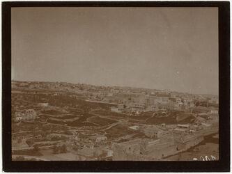 Fotografie Blick v. Dormitio n. NW (Neustadt) [Jerusalem]